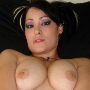 3561 300 300 Brunette Doggystyle   GND Kitty: Watch as Kitty squeezes her huge round tits together