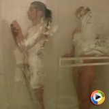 Watch as two teen girlfriends get in the shower together