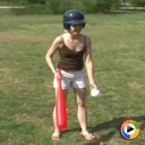 Watch as petite teen Shelby plays around at the public park